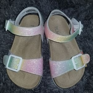 Sparkling toddler sandals